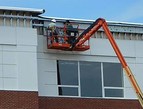Exterior composite metal panels