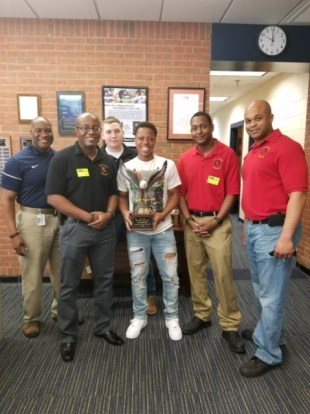 Ty-Jeigh Tyler receives U.S. Army Fitness Challenge Championship Trophy