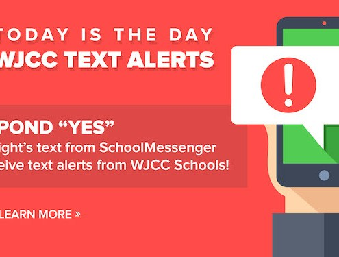 WJCC SMS Text Message Today is the Day
