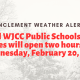 All WJCC Public Schools & Offices will open two hours late Wednesday, February 20, 2019