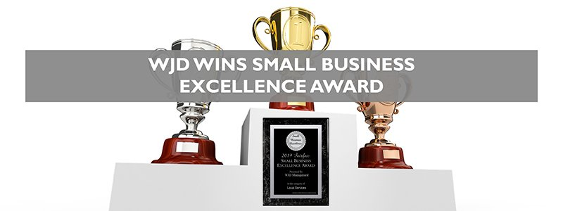 WJD Management Awarded 2019 Fairfax Small Business Excellence Award_wjd management awards