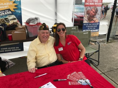 Ed Burke and me at an Honor Flight event this past summer.