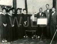 Kelley Choral Singers (N.B. Wooding is third from right and Willie McKinstry is second from right, 1944)
