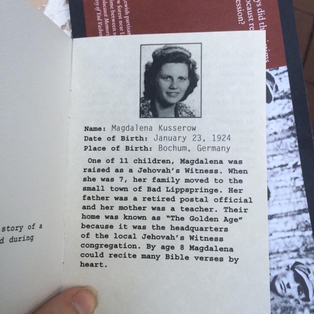 Holocaust booklet
