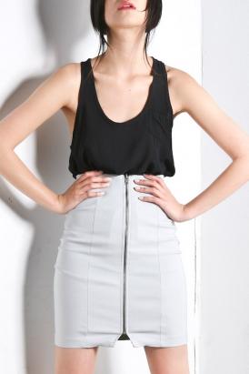 purple-label-womens-joan-long-zippered-skirt-grey