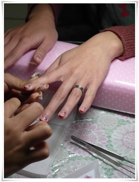 [♥囍♥]短指甲新娘也有美美光療唷! @小環妞 幸福足跡