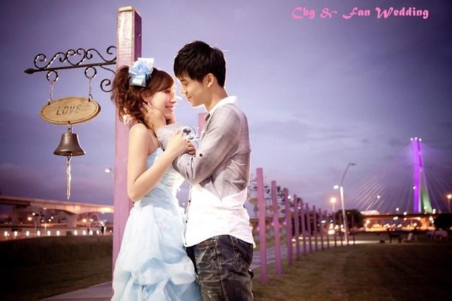 [♥囍♥]花嫁婚紗照★ 素雅水藍色蛋糕裙 @小環妞 幸福足跡