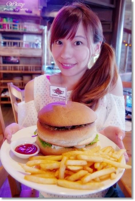 【宜蘭美式餐廳】牛仔驛站 * 比人臉還大的大漢堡阿!!宜蘭冬山聚餐好去處!! @小環妞 幸福足跡