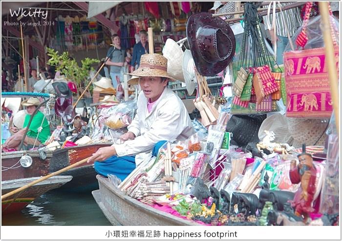 【泰國(10)】丹能莎朵水上市場,體驗泰國水上人家的風貌~大象村&樹中廟 @小環妞 幸福足跡