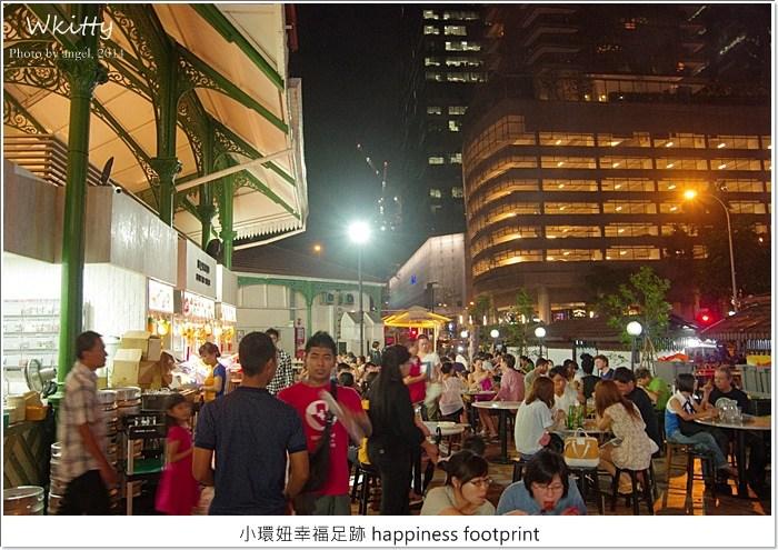 【新加坡(5)】老巴剎美食廣場,在金融大樓林立的市中心戶外吃沙嗲喝啤酒! @小環妞 幸福足跡
