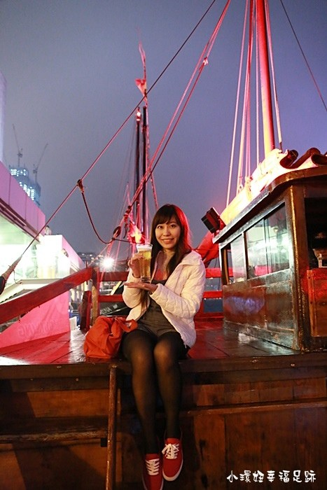 【香港】鴨靈號,維多利亞港看幻彩詠香江燈光秀,香港唯一仍在運行的典型古老中式帆船【7】 @小環妞 幸福足跡