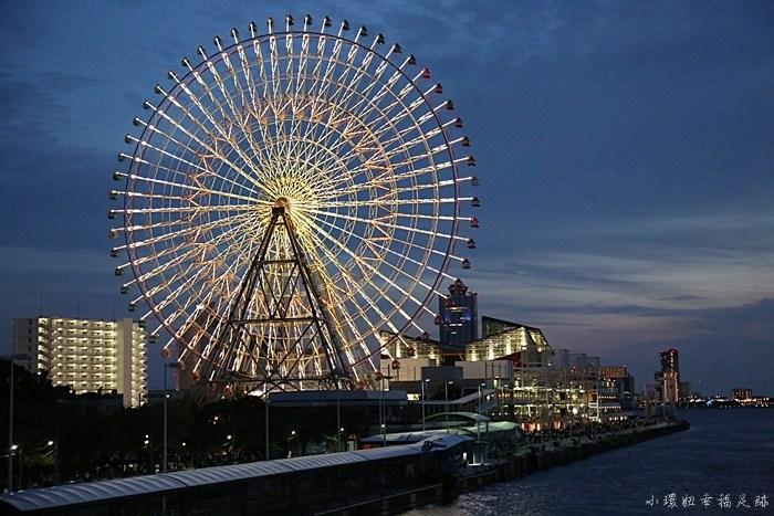 大阪周遊券免費景點,大阪周遊券推薦景點,大阪周遊券行程,聖瑪麗亞號,聖瑪麗亞號傍晚,聖瑪麗亞號夜景 @小環妞 幸福足跡