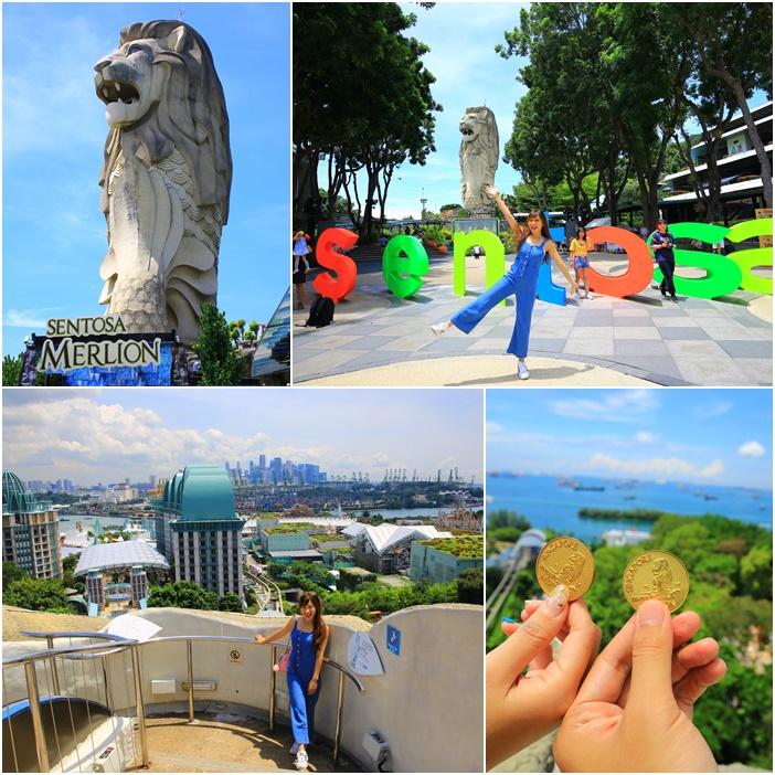【聖淘沙魚尾獅塔】全新加坡最高魚尾獅,可登頂!門票先買省很大 @小環妞 幸福足跡
