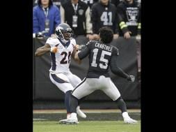 Raiders Crabtree Broncos Talib fight AP
