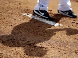 MLB Pitcher Mound shoe shadow generic AP