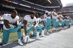 Dolphins Anthem kneeling AP