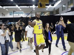 Lakers LeBron James AP