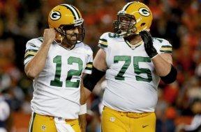 Packers Rodgers Bryan Bulaga AP