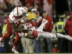 Badgers Dixon Nebraska Morgan AP