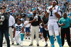 Panthers Eric Reid kneeling Anthem AP