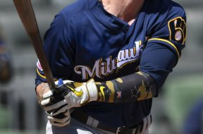 Brewers Ben Gamel HR swing AP