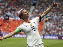 Olympics soccer Megan Rapinoe AP