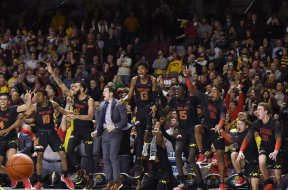 Maryland celebrates vs Minnesota AP