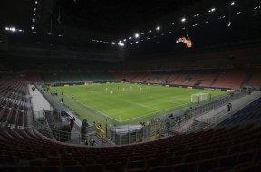 Italy empty stadium AP