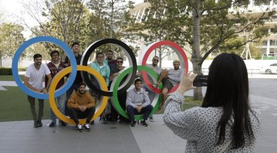 Olympic Flame Japan AP