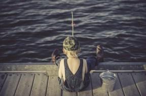 Fishing child kid dock