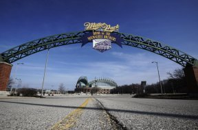 Miller Park Brewers entrance AP