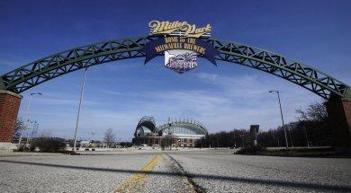 Miller Park Brewers entrance AP