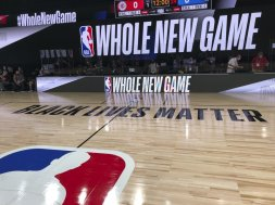 NBA Bubble court AP