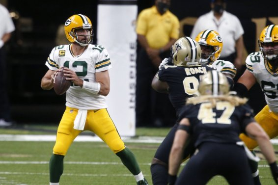 Rodgers Packers v Saints AP