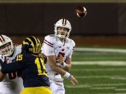 Badgers Graham Mertz Michigan AP