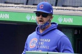 Cubs David Ross no mask AP