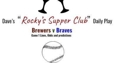 brewers v braves game 1