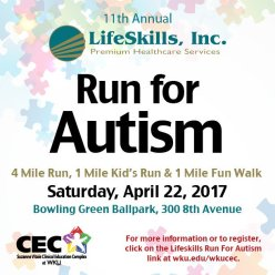The Run for Autism will be held April 22.