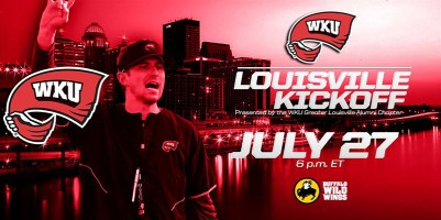 Greater Louisville Alumni Chapter's WKU Football Kickoff Party will be held July 27 at Buffalo Wild Wings in Louisville.