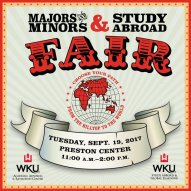 The Majors and Minors & Study Abroad Fair will be held Sept. 19.