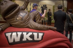 Attorney General Andy Beshear visited WKU on Feb. 22 to announce the #VoiceOfJustice video contest to raise awareness of sexual assault on college campuses..