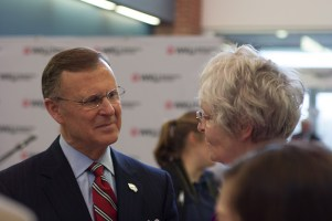 WKU Elizabethtown-Fort Knox hosted a reception honoring President Gary A. Ransdell on April 11.