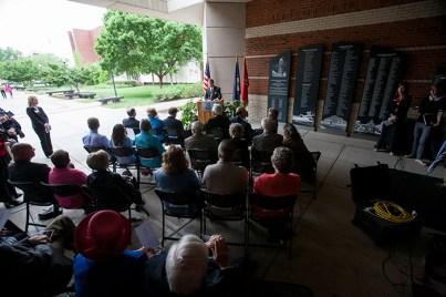 The dedication of Jody Richards Hall was held May 4.