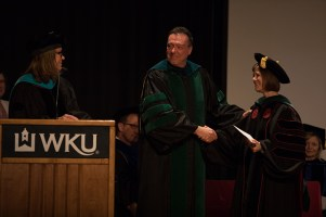The Doctor of Physical Therapy program conducted a hooding ceremony on May 12.