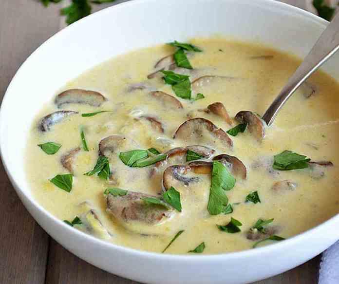 Суп грибной сливочный
