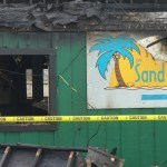 No word has been released on the cause of the fire at the Bass Lake Sandbar.