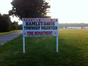 The new fire station will be built between the Starke County Fairgrounds and the Wayne Apartments in Hamlet.