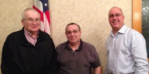 Pulaski County Commissioners Bud Krohn, Jr., Terry Young and Larry Brady