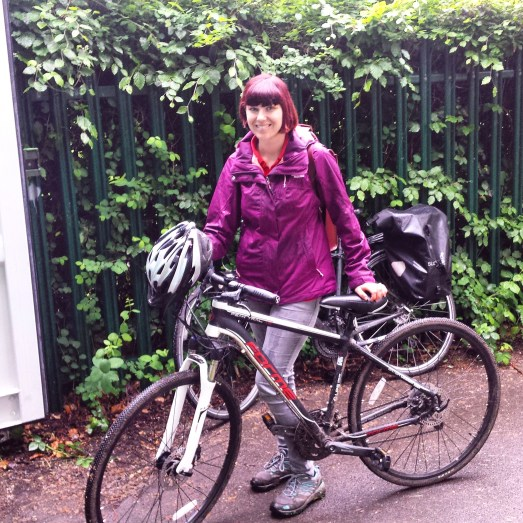 Katie gears up for her first bike ride in seven years!