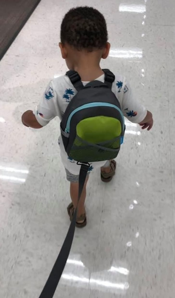 This Mom Faces Disapproval Because Her Son Wears a Leash and Backpack, and She Explains Her Reasoning